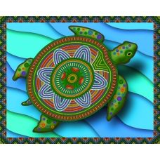 АК3-100 Императорская черепаха. Схема для вышивки бисером А-Строчка