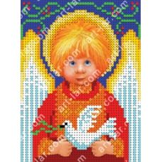 БИС-3115a Ангелочек  Мира и Согласия. Схема для вышивки бисером Арт Лар