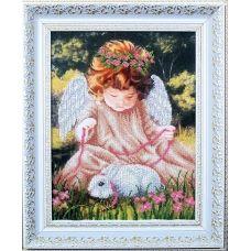 Б-094 Ангел с кроликом. Набор для вышивки бисером Магия канвы