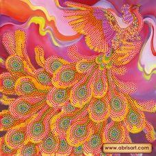 АС-445 Огненная птица. Схема на художественном холсте Абрис Арт