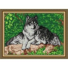 АТ3005 Волки. Набор для рисования камнями. Арт Солло