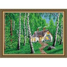 АТ3015 Домик в лесу. Набор для рисования камнями. Арт Солло