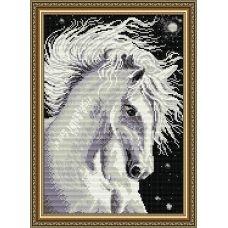 АТ3016 Белая Лошадь. Набор для рисования камнями. Арт Солло