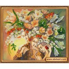 АВ-325 Богини цветения. Набор для вышивки бисером. Абрис Арт