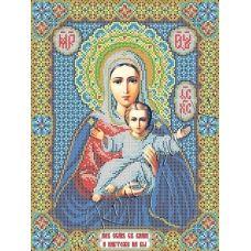 ИК3-0273 Леушинская икона Божией Матери. Схема для вышивки бисером Феникс