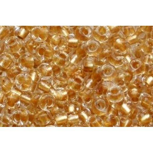 68283 Бисер Preciosa стеклянный оранжево-жёлтый с жемчужным прокрасом