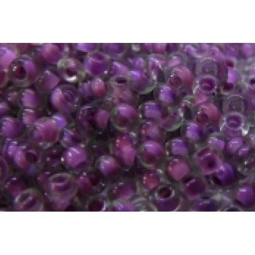 80628 Бисер Preciosa серый с внутренним фиолетово-розовым прокрасом