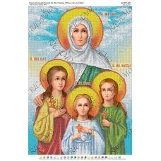А2Р-021 (БКР-2081) Св. Вера, Надежда, Любовь и мать их София. Схема для вышивки бисером ТМ Virena