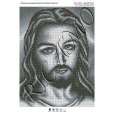 А3Р_210 БКР-3147 Лик Иисуса Христа (серый). Схема для вышивки TM Virena