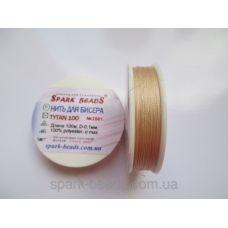 БН-2561 Нить для бисера, Титан, цвет персиковый