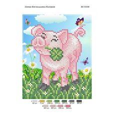 БС-5116 Свинка с клевером. Схема для вышивки бисером ТМ Сяйво