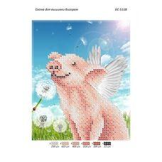 БС-5118 Свинка в одуванчиках. Схема для вышивки бисером ТМ Сяйво