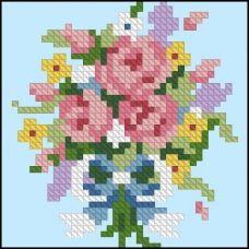 ФЧК-6010 Букет роз. Схема для вышивки бисером Феникс