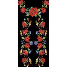 БЖд-013 (черная). Заготовка женской сорочки. Барвиста Вишиванка