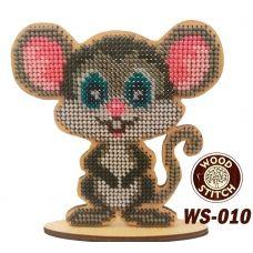 WS-010 Символ Года. Мышка Жорик. Набор для вышивки WoodStitch