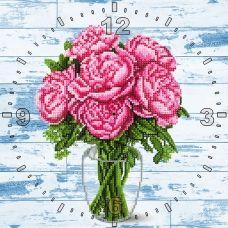 CR-004(27*27) Розовые пионы. Схема для вышивки бисером Свит Арт