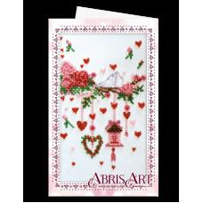 АОМ-016 Открытка-конверт. Свадебная мишура. Абрис Арт