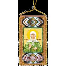АВО-006 Молитва к святой Матроне. Набор для вышивки бисером Абрис Арт