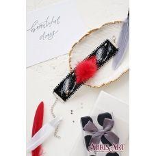 ADB-004 Набор для вышивки бисером украшение-браслет на натуральном художественном холсте Пушистая сказка. ТМ Абрис Арт