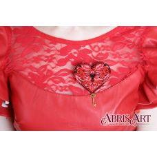 AD-008 Набор для вышивки бисером украшения Ключ к сердцу. ТМ Абрис Арт