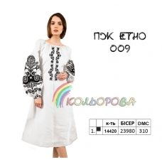 ПЖ-ЕТНО-009 КОЛЁРОВА. Заготовка платье для вышивки