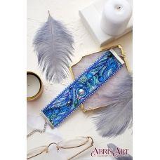 ADB-001 Набор для вышивки бисером украшение-браслет на натуральном художественном холсте Перистое касание. ТМ Абрис Арт