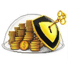 F-020(А4) Монеты. Схема для вышивки бисером СвитАрт