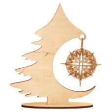 F-042 Рождественская ёлка. Набор с фанерной заготовкой ТМ Чаривна Мить
