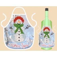 ФБ-001 Фартук на бутылку (рус) для вышивки. ТМ Маричка