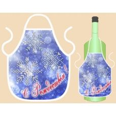 ФБ-004 Фартук на бутылку (рус) для вышивки. ТМ Маричка