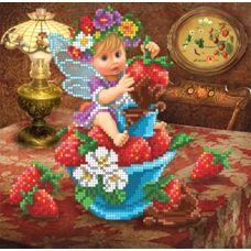 БИС-1615 Клубнично-шоколадная фея. Схема для вышивки бисером Арт Лар