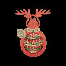 FLE-019 Елочная игрушка для вышивания бисером