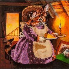 FLF-050 От кошки для мышки. Набор на холсте для вышивки бисером Волшебная Страна