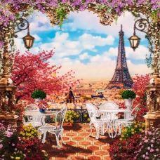 FLF-095 Весна в Париже. Набор на холсте для вышивки бисером Волшебная Страна