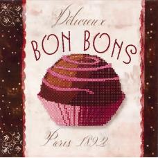 FLS-027 Bon Bons. Схема для вышивки бисером. Волшебная Страна