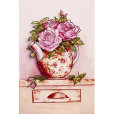 FLS-035 Розовый букет. Схема для вышивки бисером. Волшебная Страна