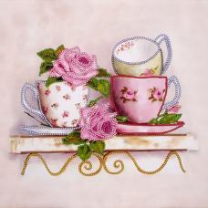 FLS-037 Чайные розы. Схема для вышивки бисером. Волшебная Страна