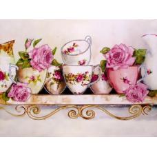 FLS-038 Чайные розы. Схема для вышивки бисером. Волшебная Страна