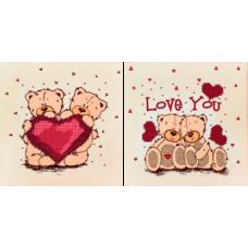 FLS-052D Love you. Схема для вышивки бисером. Волшебная Страна