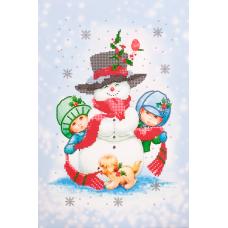 FLS-071 Снеговик. Схема для вышивки бисером. Волшебная Страна
