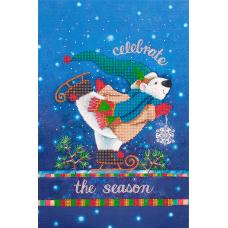 FLS-072 Новогодний мишка. Схема для вышивки бисером. Волшебная Страна