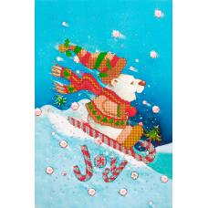 FLS-073 Новогодний мишка. Схема для вышивки бисером. Волшебная Страна