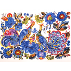 FLS-095 Петриковская роспись. Схема для вышивки бисером. Волшебная Страна