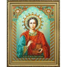 Р-296 Икона Святой целитель Пантелеймон. Набор для вышивки бисером. ТМ Картины Бисером