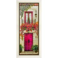 R-028 Цветущий балкон. Набор для вышивки нитками. ТМ Olanta
