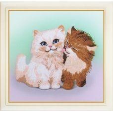 R-035 Кошачьи нежности. Набор для вышивки нитками. ТМ Olanta