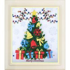 R-039 Счастливого рождества! Набор для вышивки нитками. ТМ Olanta