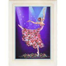 R-045 Танец цветов. Набор для вышивки нитками. ТМ Olanta