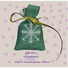 VM-005 Снежинка. Набор для вышивки нитками. ТМ Olanta