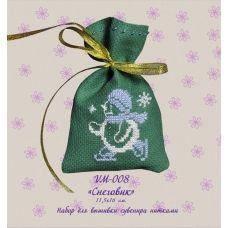 VM-008 Снеговик. Набор для вышивки нитками. ТМ Olanta